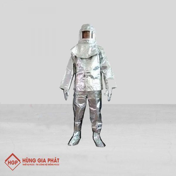 Quần áo chống cháy tráng nhôm chịu nhiệt 500 độ