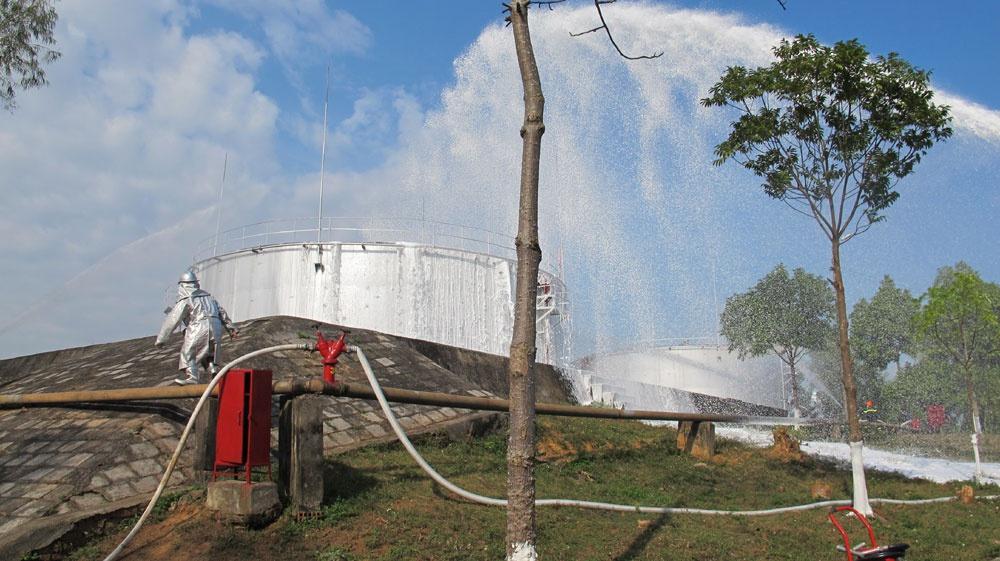 Bể chứa nước chữa cháy cần đủ lớn