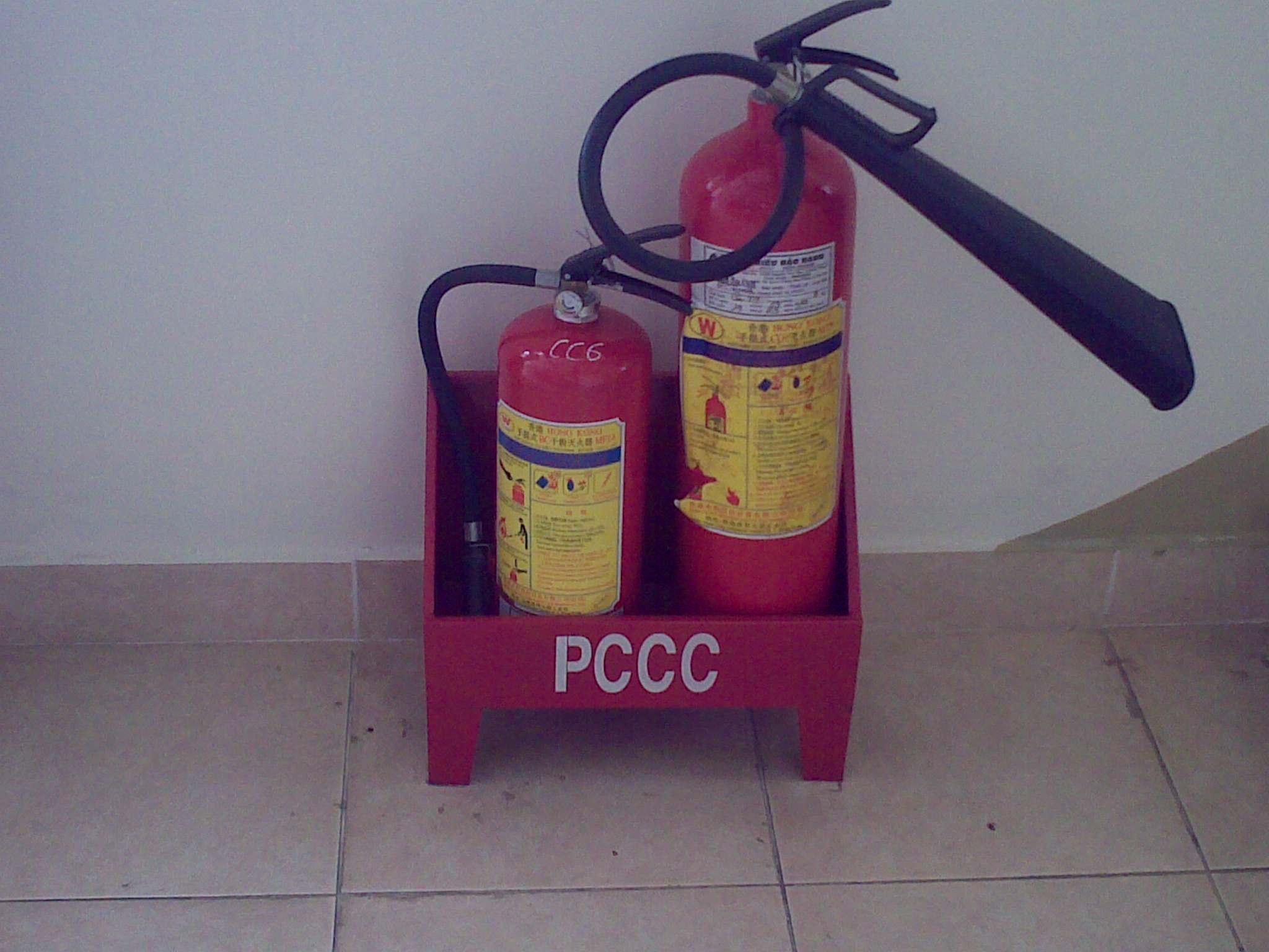 Khu vực thích hợp để lắp đặt bình chữa cháy
