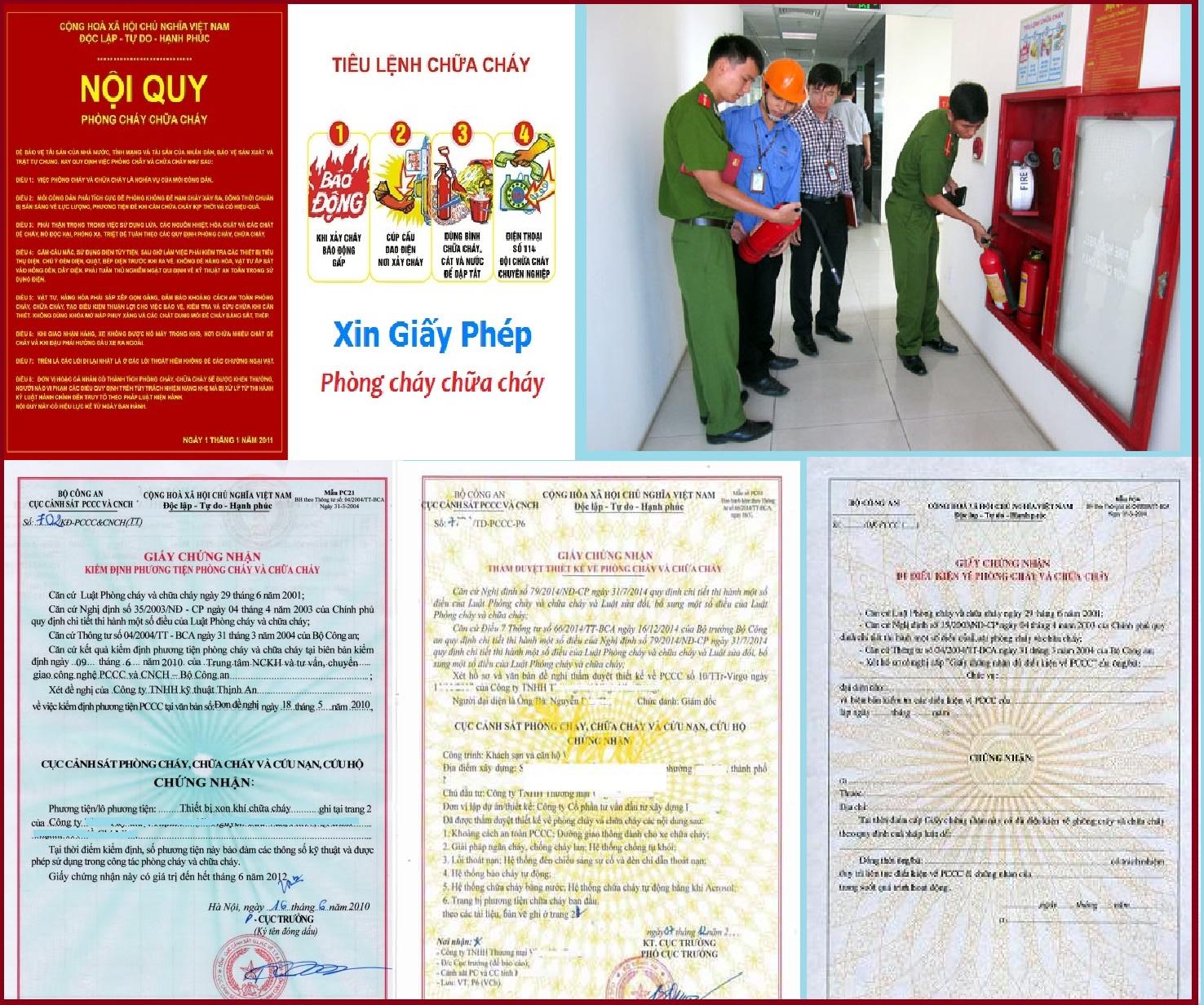 Những điều kiện chung để cấp giấy phép phòng cháy chữa cháy