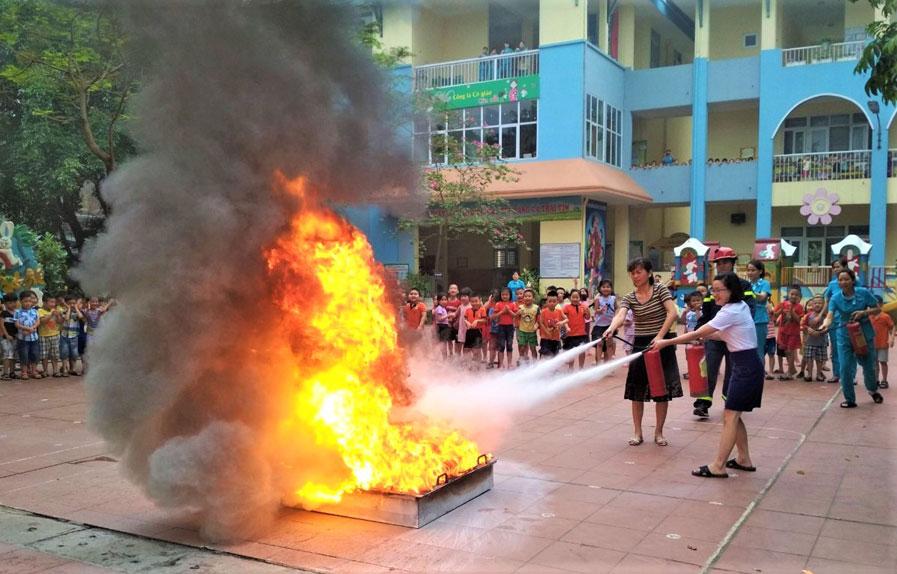 Quy định phòng cháy chữa cháy trong trường học cần nghiêm chỉnh chấp hành