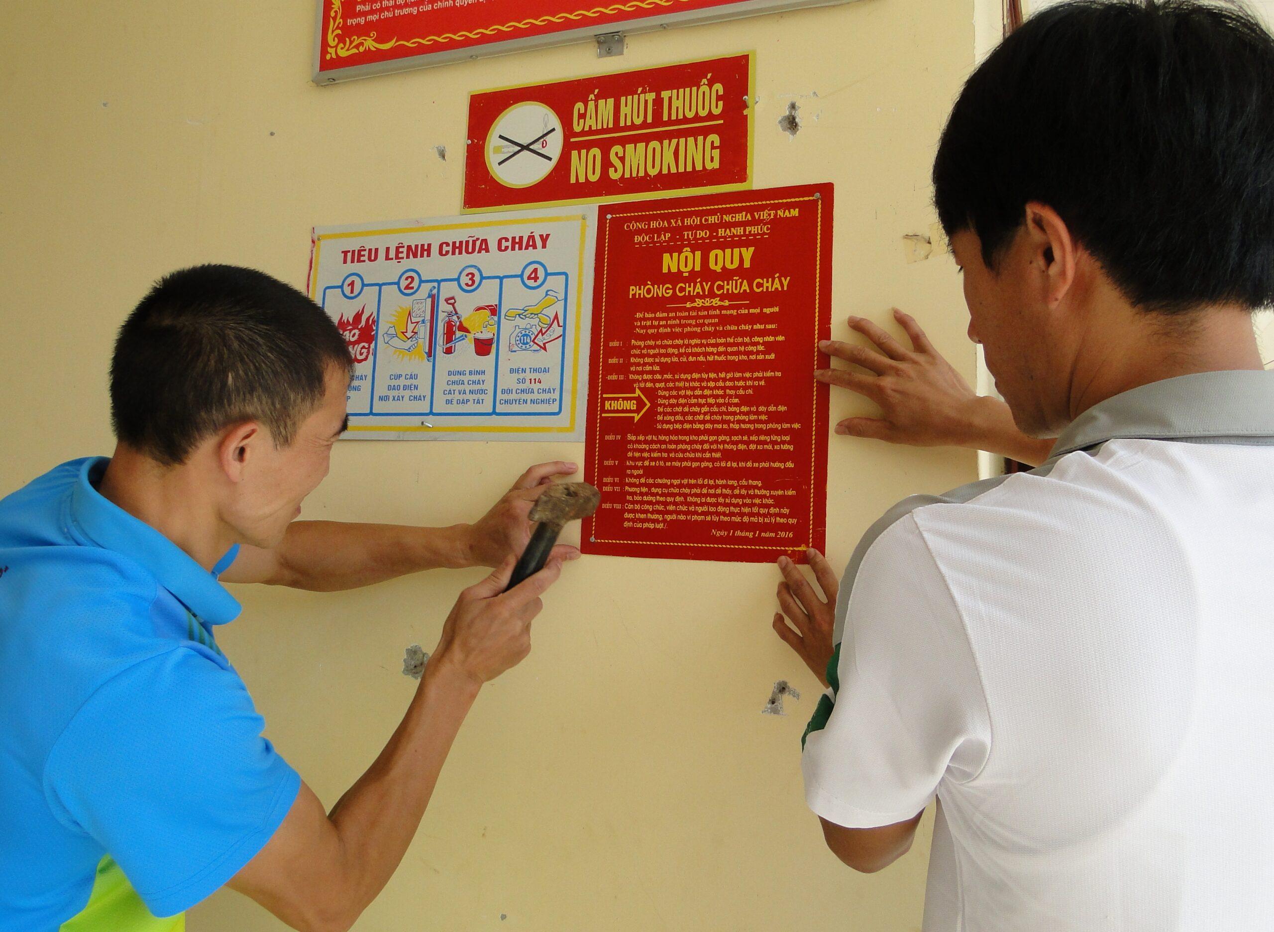 Tiêu lệnh chữa cháy thường thấy ở trường học