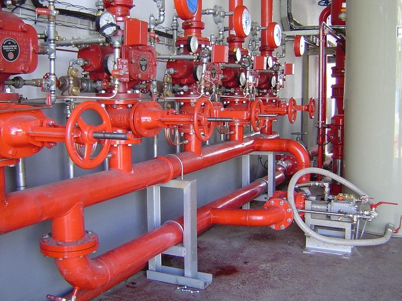 Đường ống màu sơn chữa cháy thường có màu đỏ