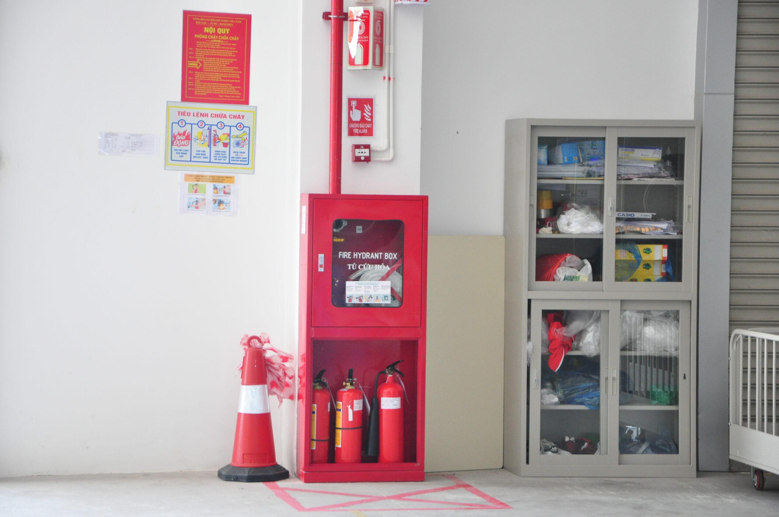 Bình chữa cháy được trang bị để bảo vệ cho nhiều không gian