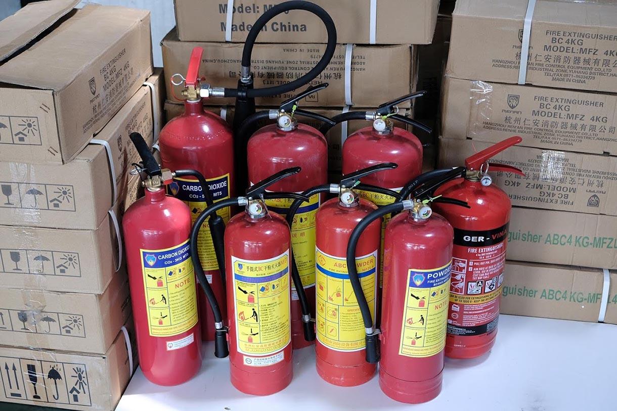 Các loại bình chữa cháy thông dụng