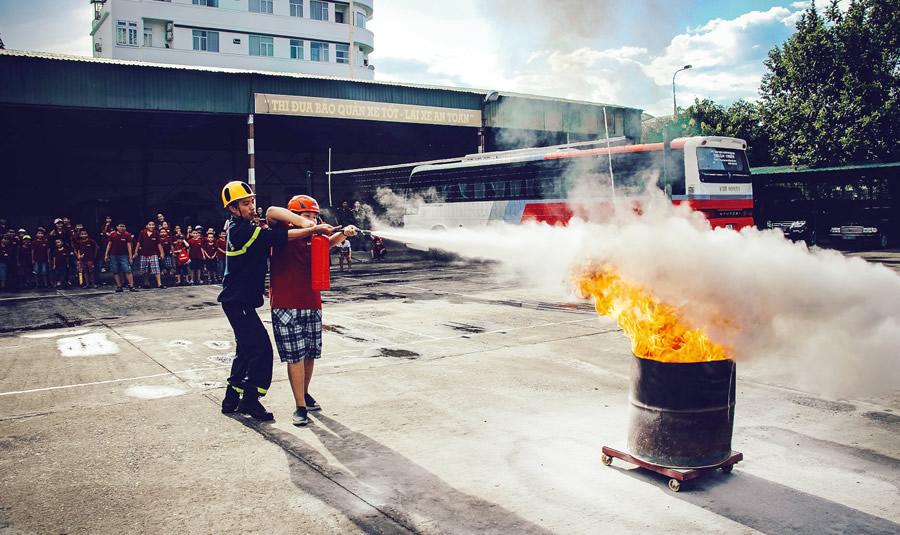 Thực tập PCCC giúp mọi người chủ động khi xảy ra hỏa hoạn